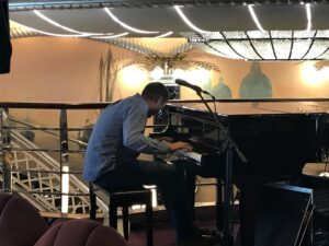 Elijah Bossenbroek plays piano