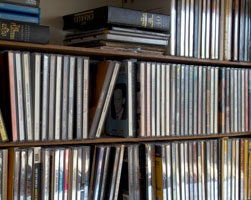 A collection of CDs